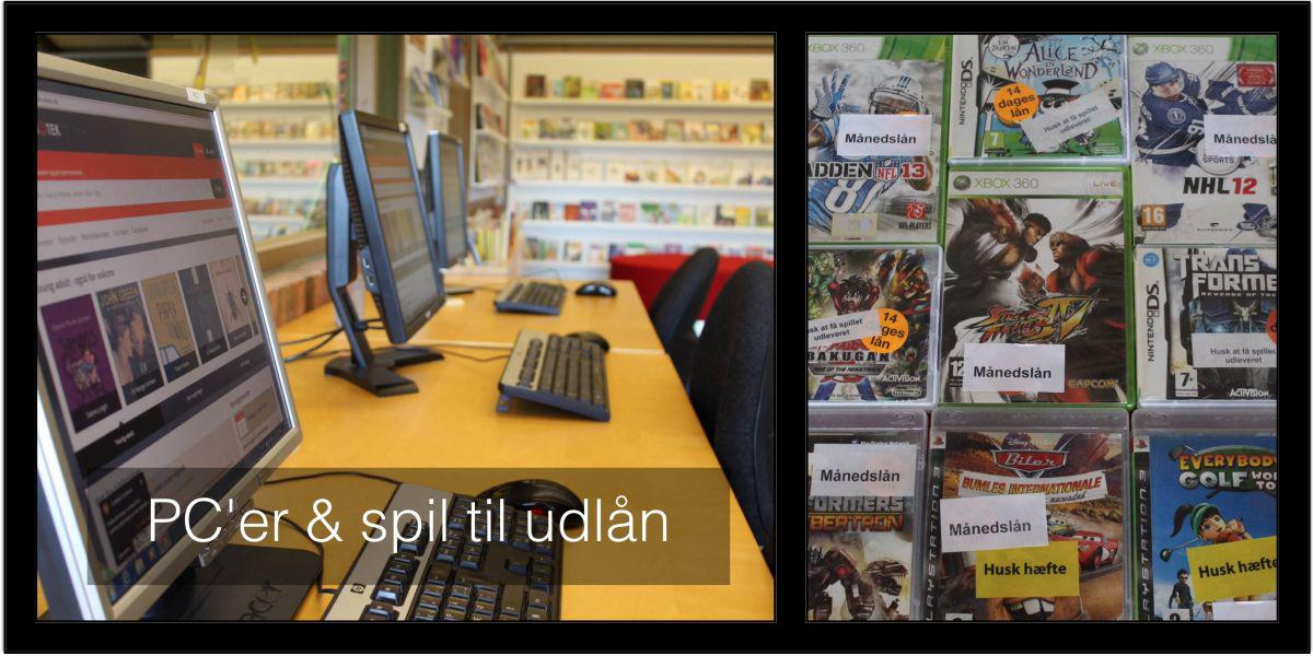PC'er og spil til udlån